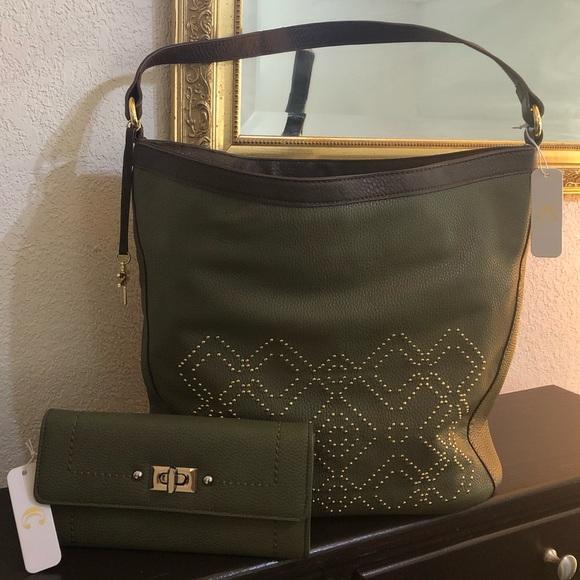 Charming Charlie Shoulder bag /Matching Wallet Set